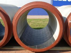 Basalt lining of concrete module component bottom