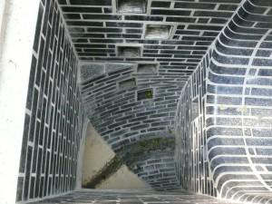 Lining made from basalt bricks
