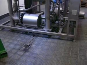 Floor in brewery