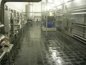 Basalt floor in brewery