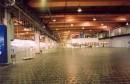 Basalt floor in industrial hall