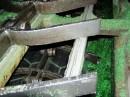 Basalt hexagonal lining of dragline conveyor